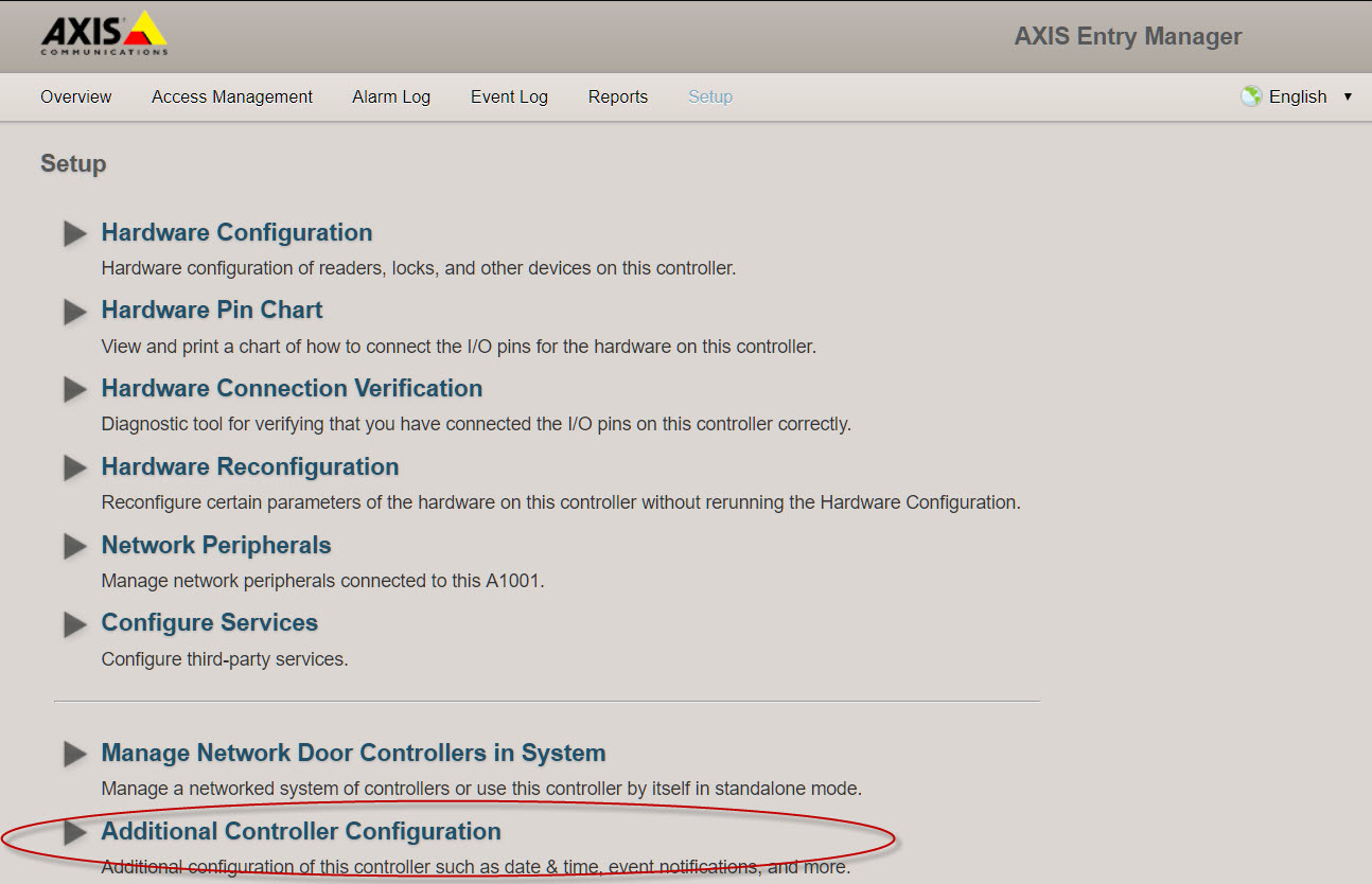 How to enable ONVIF services for Axis A1001